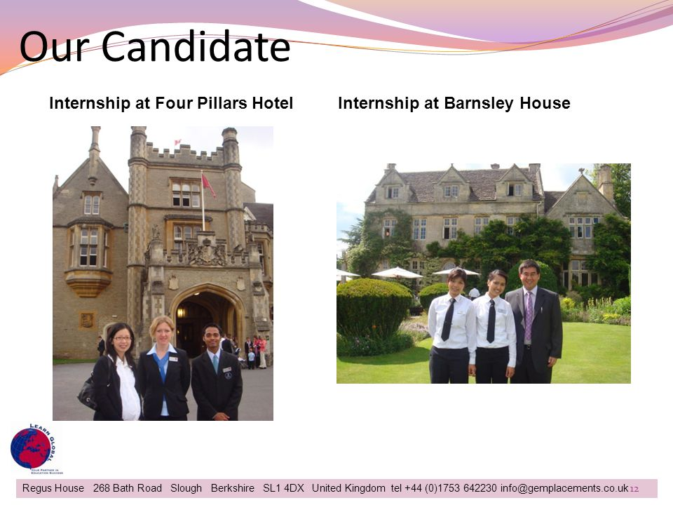 Our Candidate Internship at Four Pillars Hotel
