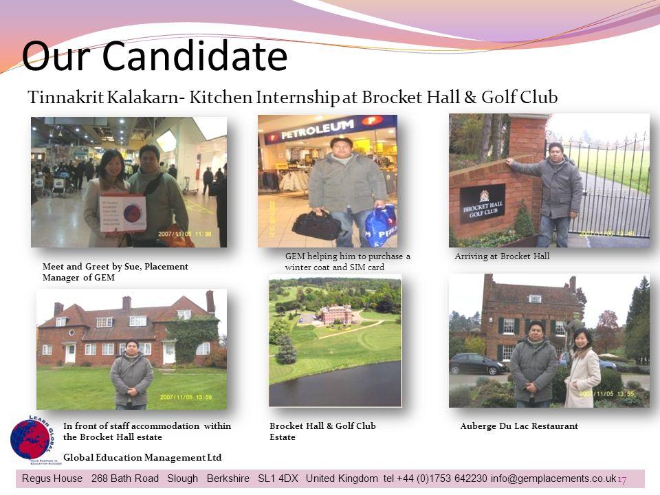 Our Candidate Tinnakrit Kalakarn- Kitchen Internship at Brocket Hall & Golf Club. GEM helping him to purchase a winter coat and SIM card.