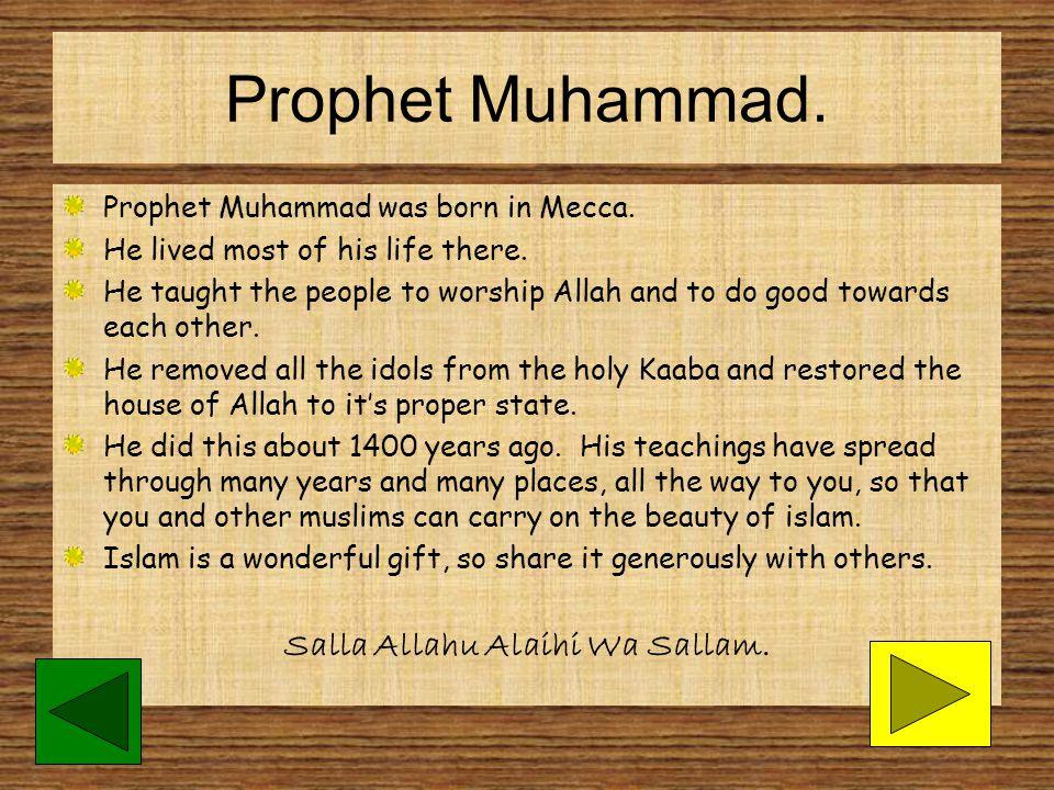 Salla Allahu Alaihi Wa Sallam.