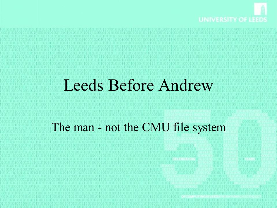 The man - not the CMU file system