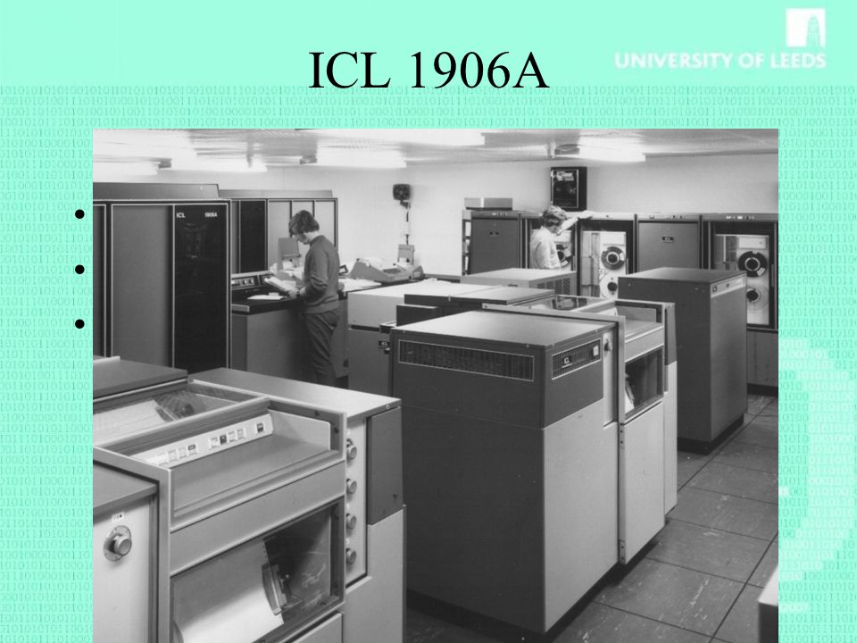 ICL 1906A 1972 ICL1906A installed 1972 KDF9 switches to student role