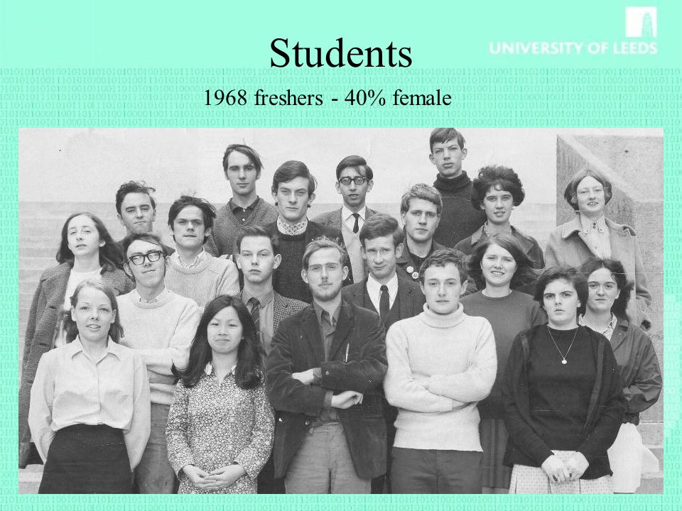 Students 1968 freshers - 40% female
