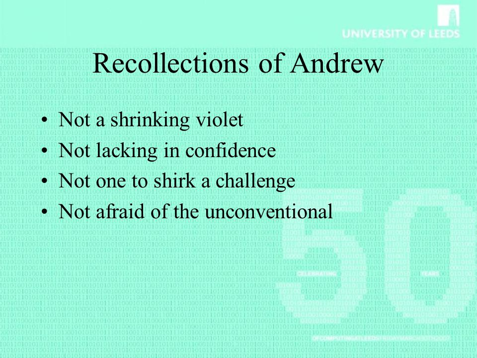 Recollections of Andrew