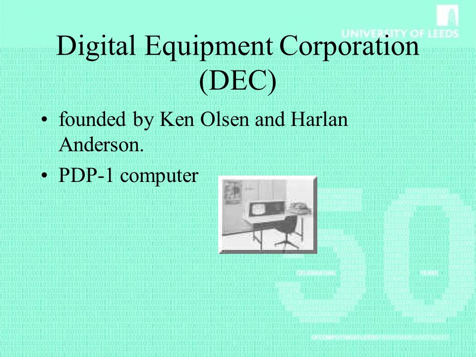 Digital Equipment Corporation (DEC)