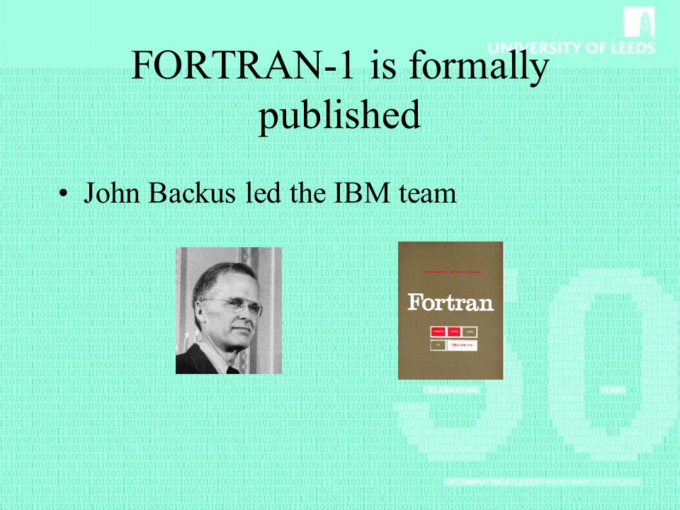 FORTRAN-1 is formally published