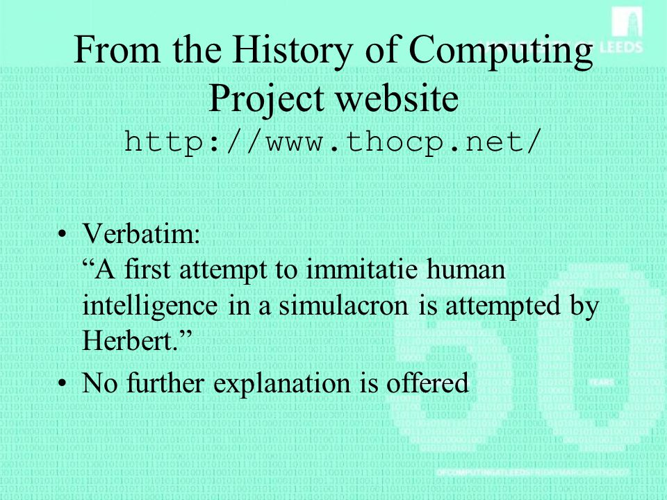 From the History of Computing Project website http://www.thocp.net/