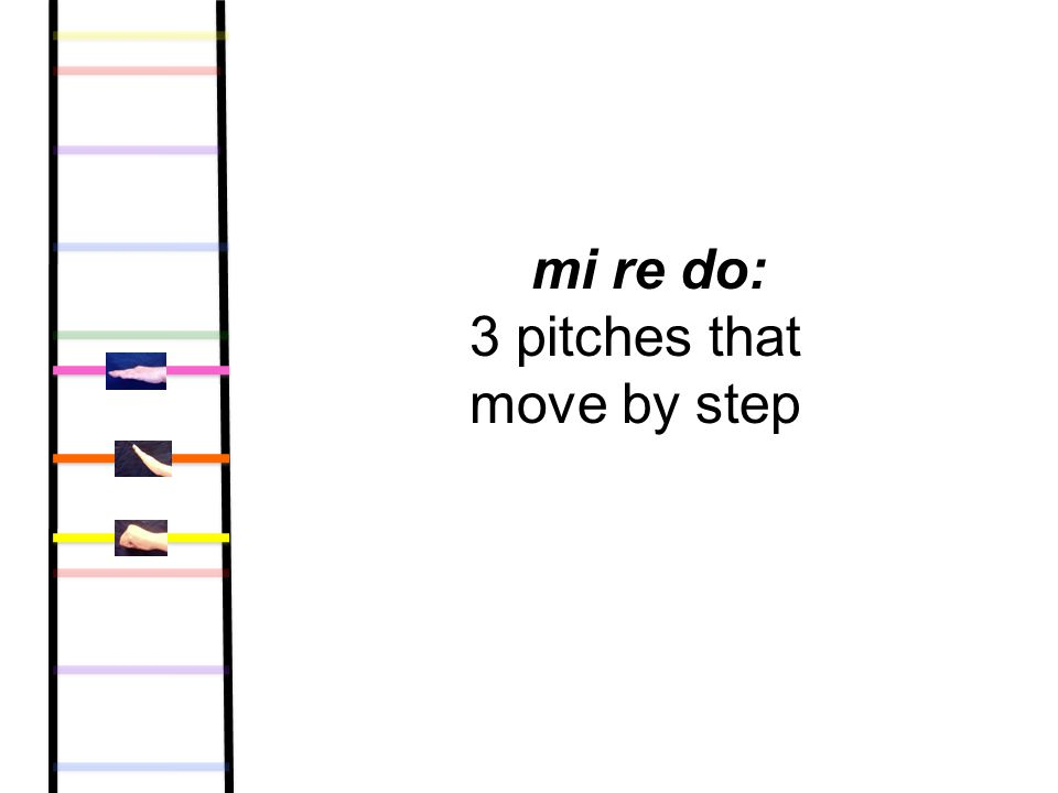 mi re do: 3 pitches that move by step