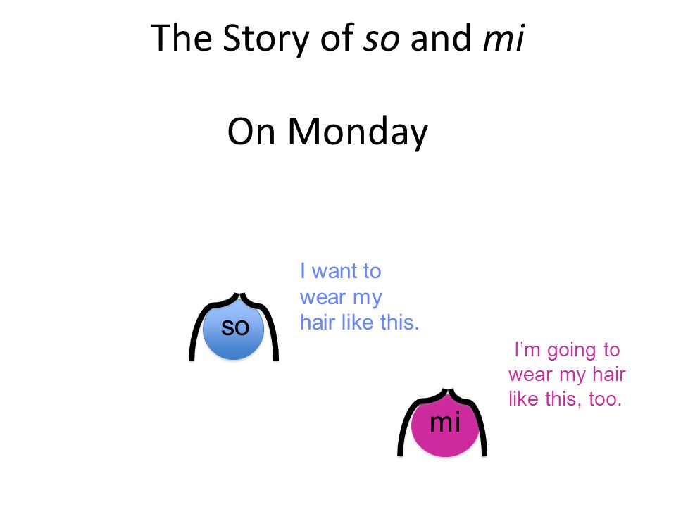 The Story of so and mi On Monday mi so