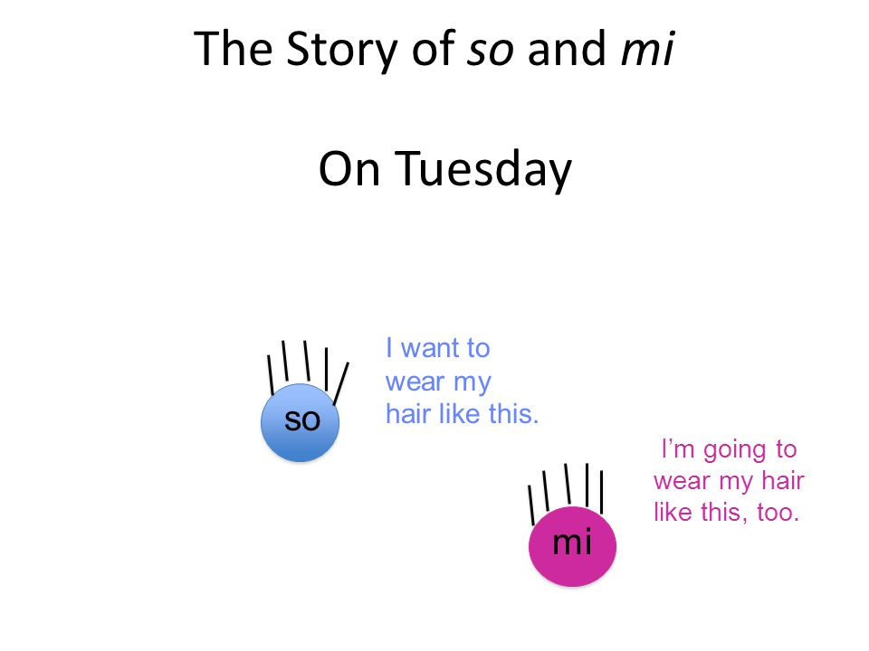The Story of so and mi On Tuesday mi so