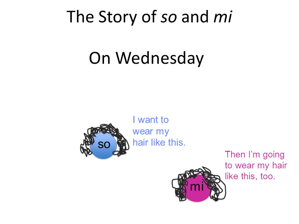 On Wednesday The Story of so and mi mi so