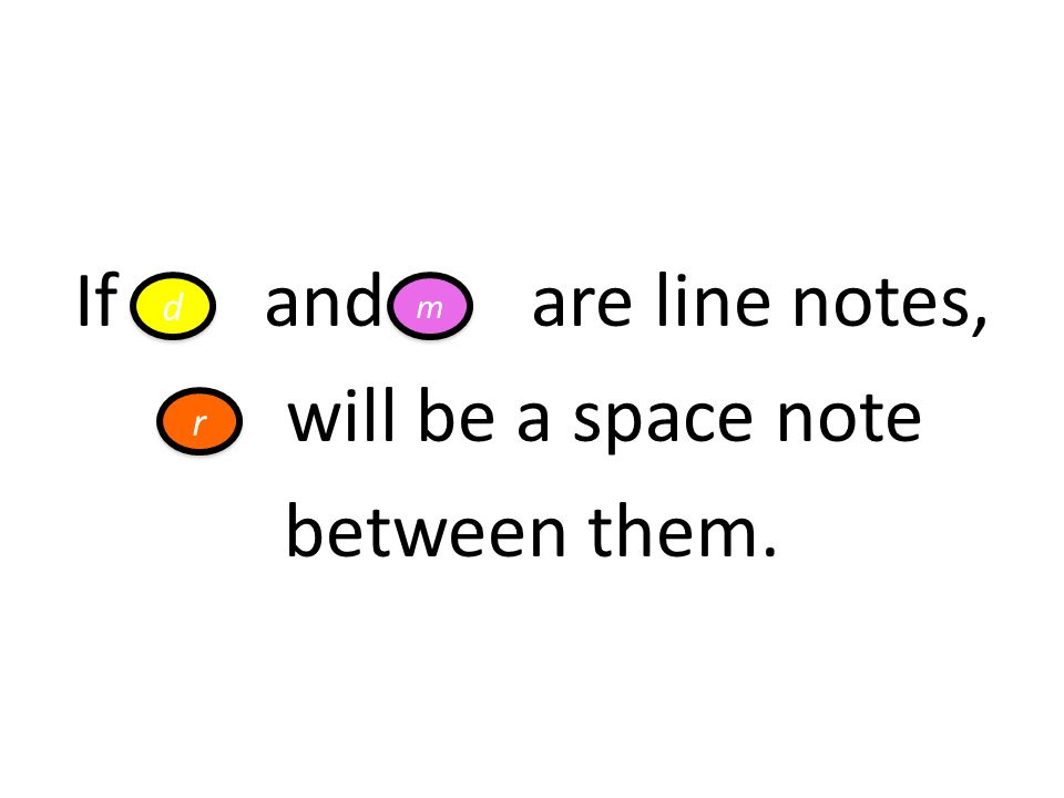 If and are line notes, will be a space note between them.