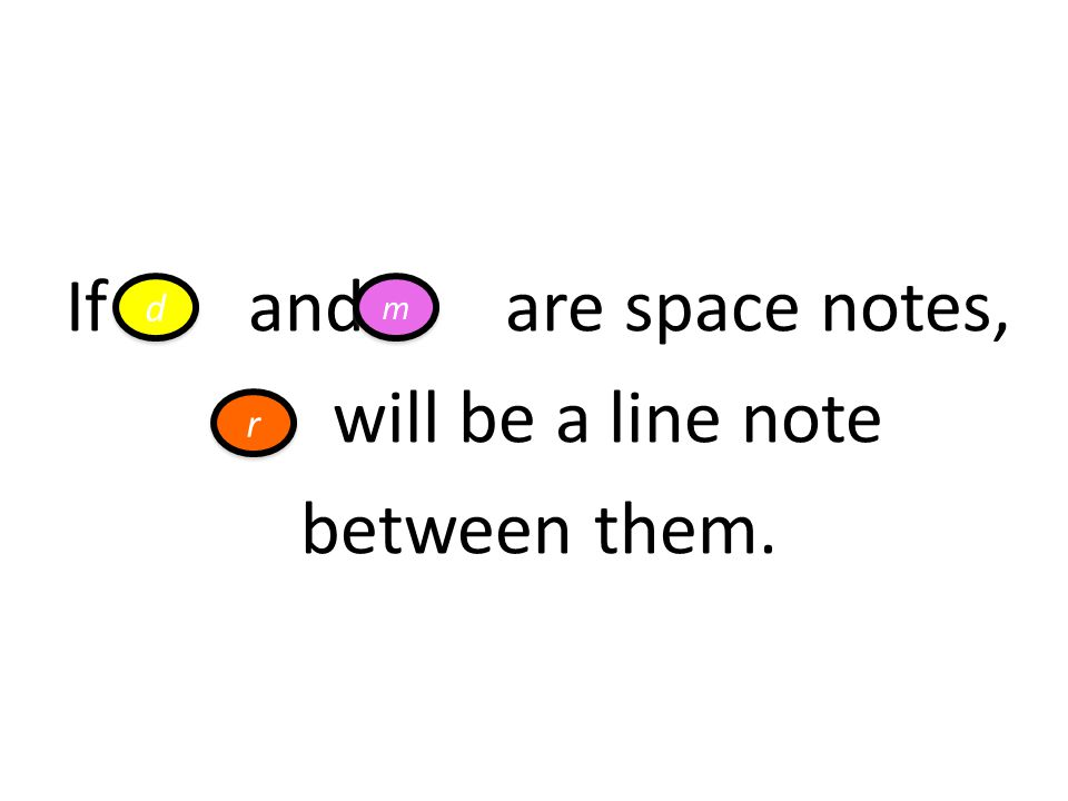 If and are space notes, will be a line note between them.