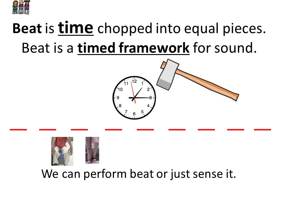Beat is time chopped into equal pieces
