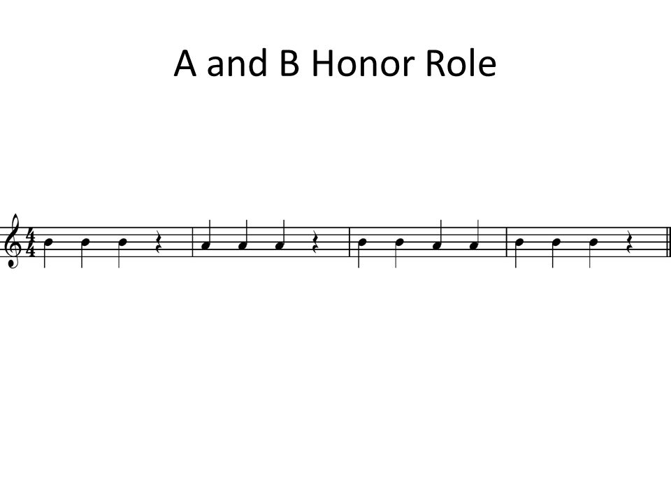 A and B Honor Role
