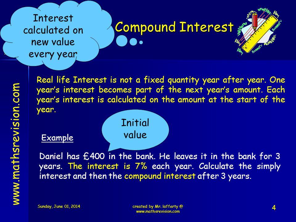 Compound Interest www.mathsrevision.com