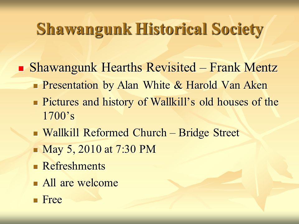 Shawangunk Historical Society