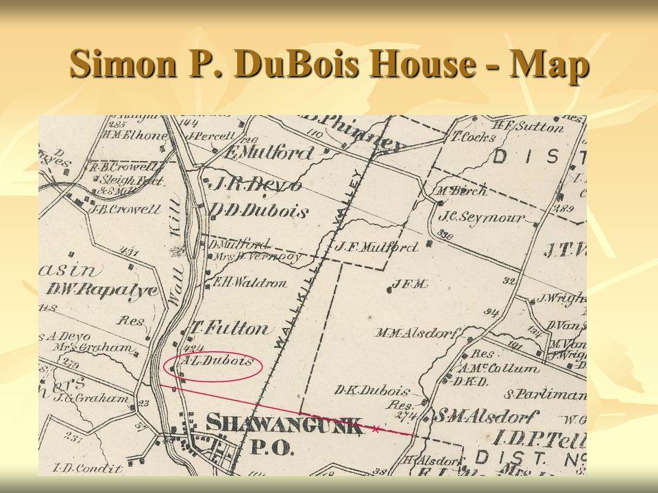 Simon P. DuBois House - Map