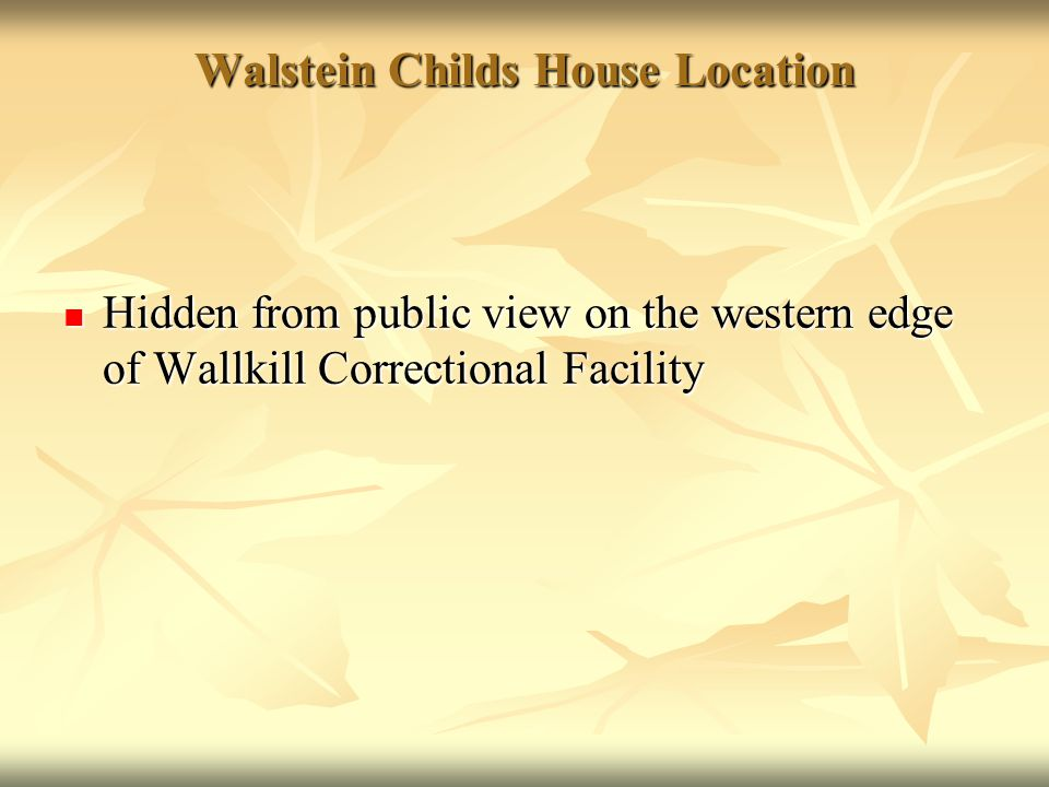 Walstein Childs House Location