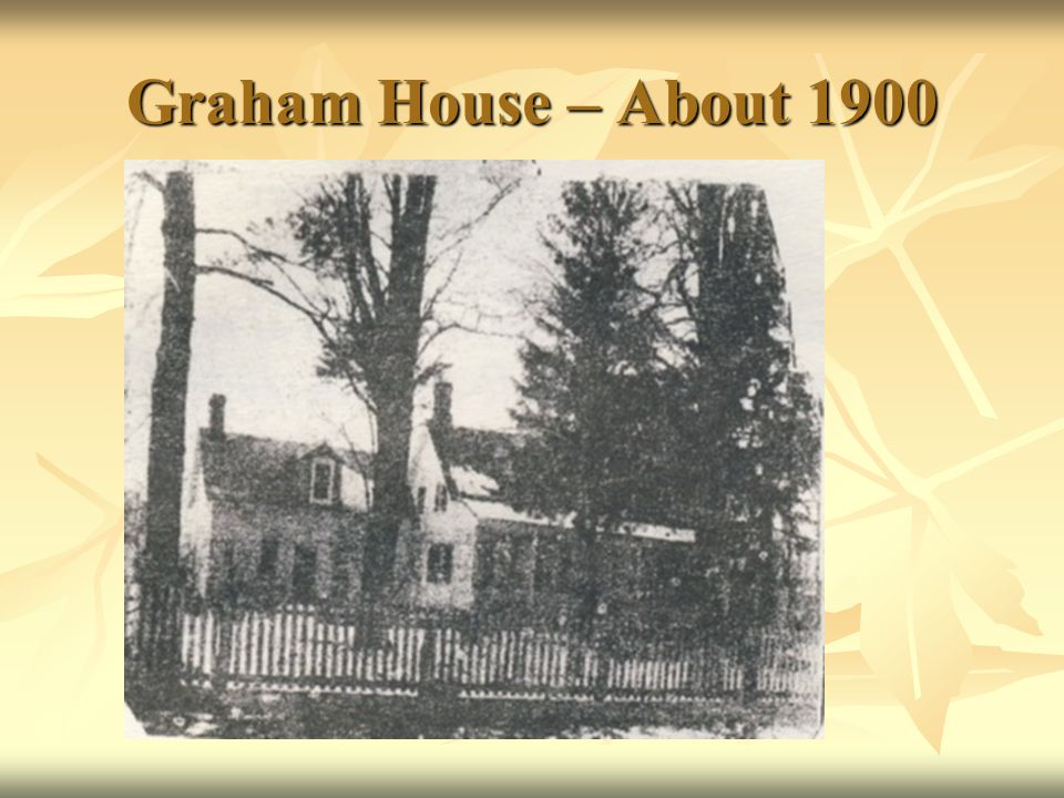 Graham House – About 1900