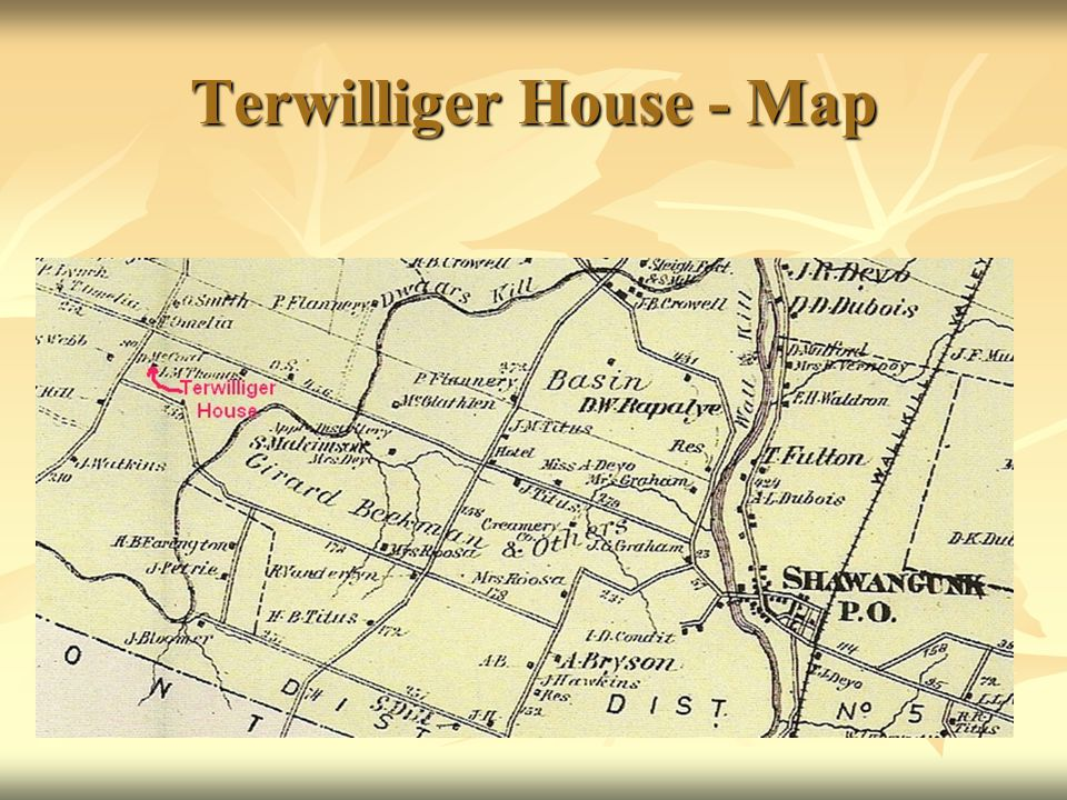 Terwilliger House - Map
