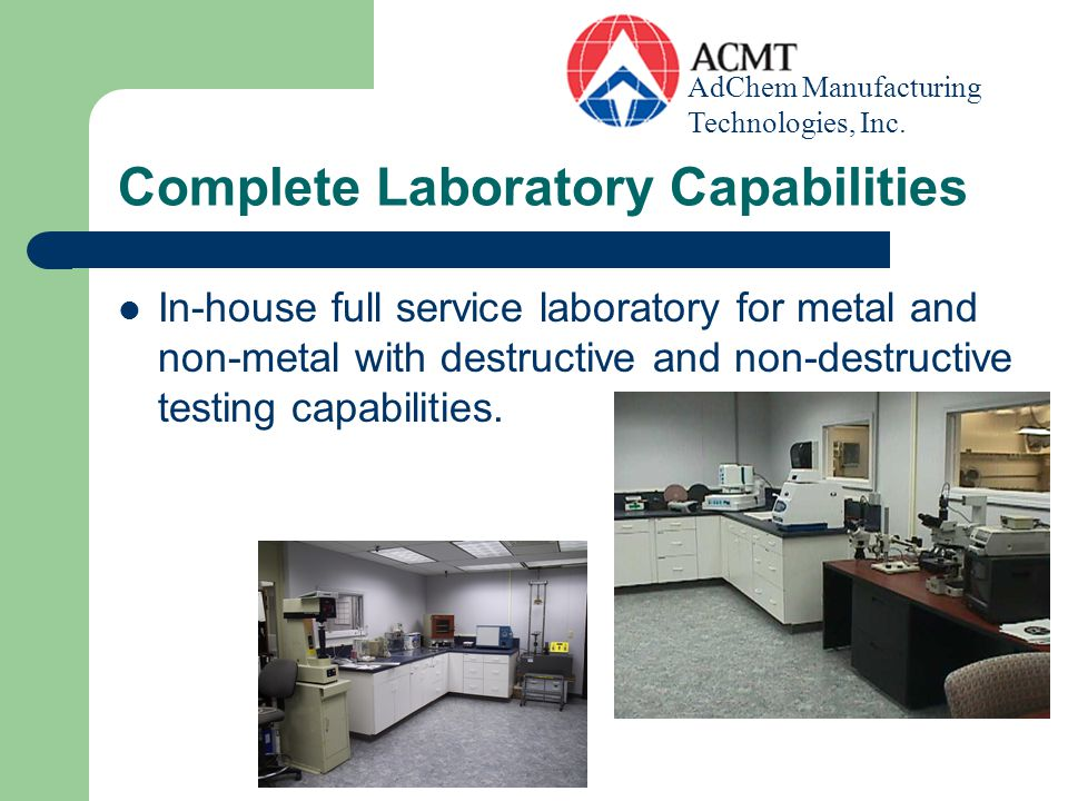 Complete Laboratory Capabilities