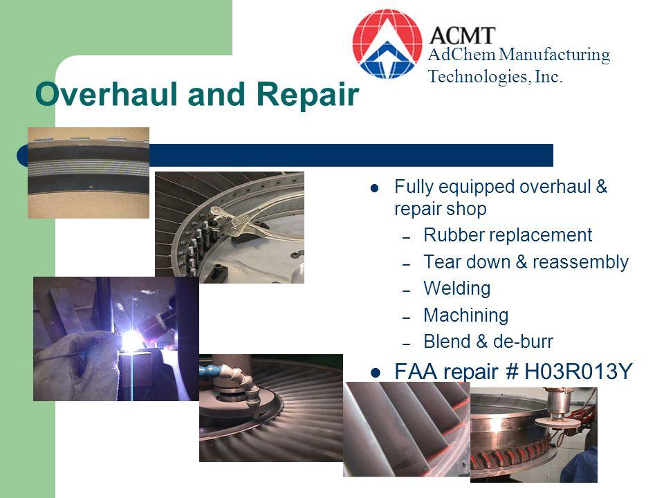 Overhaul and Repair FAA repair # H03R013Y