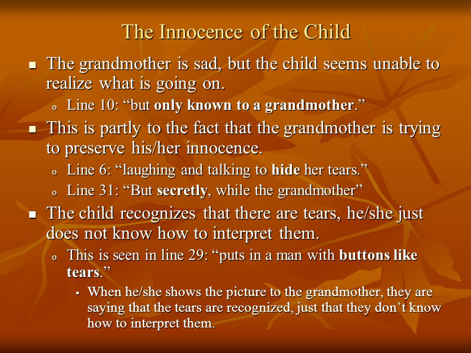 The Innocence of the Child