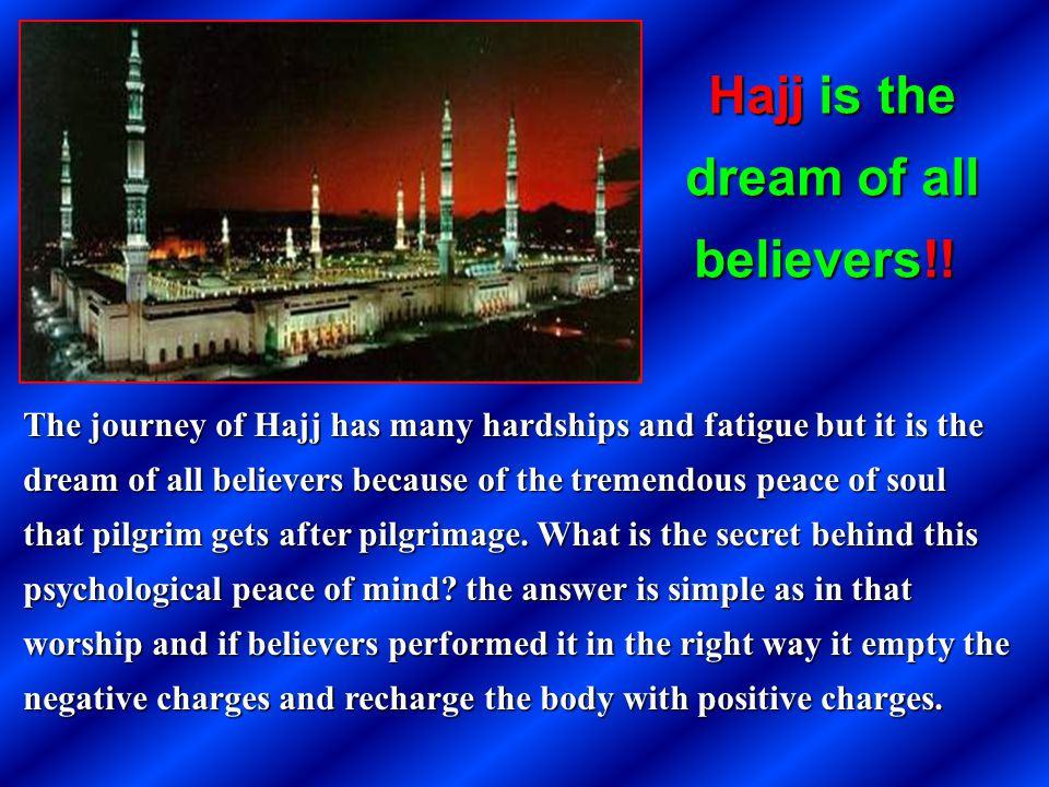 Hajj is the dream of all believers!!