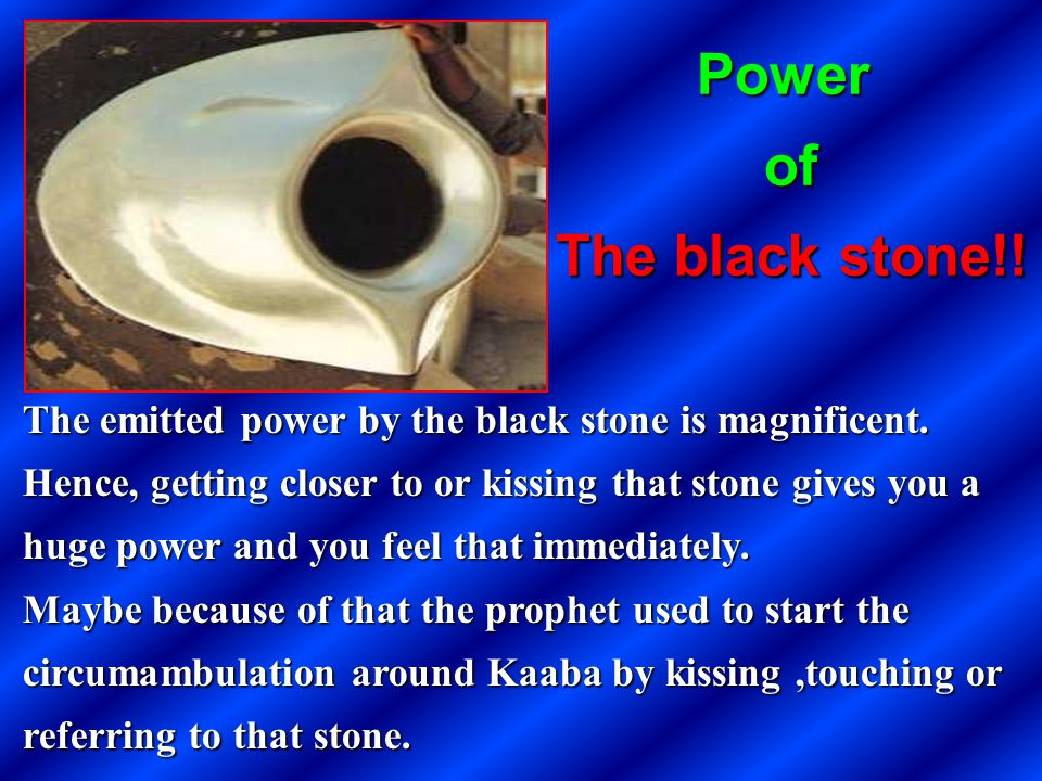 Power of The black stone!!