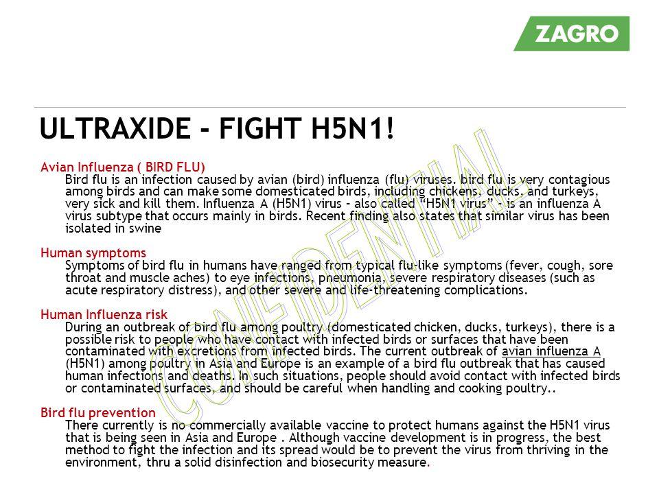 CONFIDENTIAL ULTRAXIDE - FIGHT H5N1! Avian Influenza ( BIRD FLU)