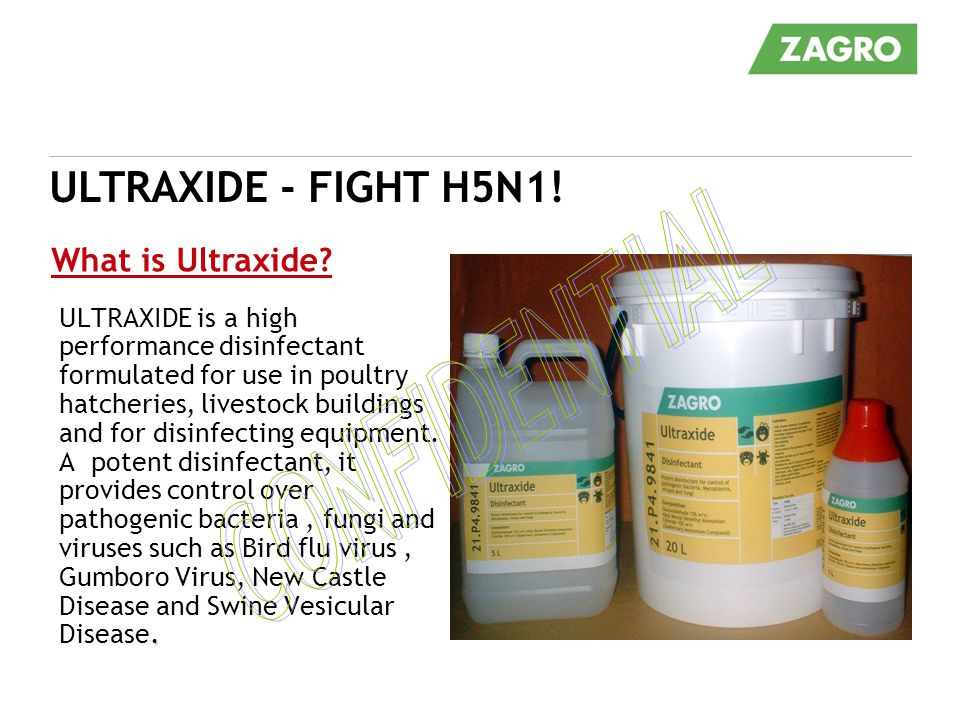 CONFIDENTIAL ULTRAXIDE - FIGHT H5N1! What is Ultraxide