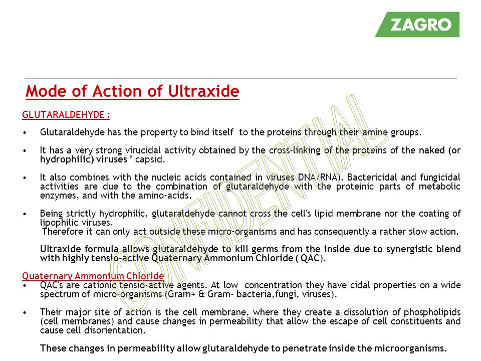 Mode of Action of Ultraxide