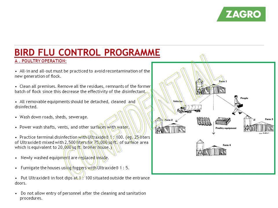 BIRD FLU CONTROL PROGRAMME