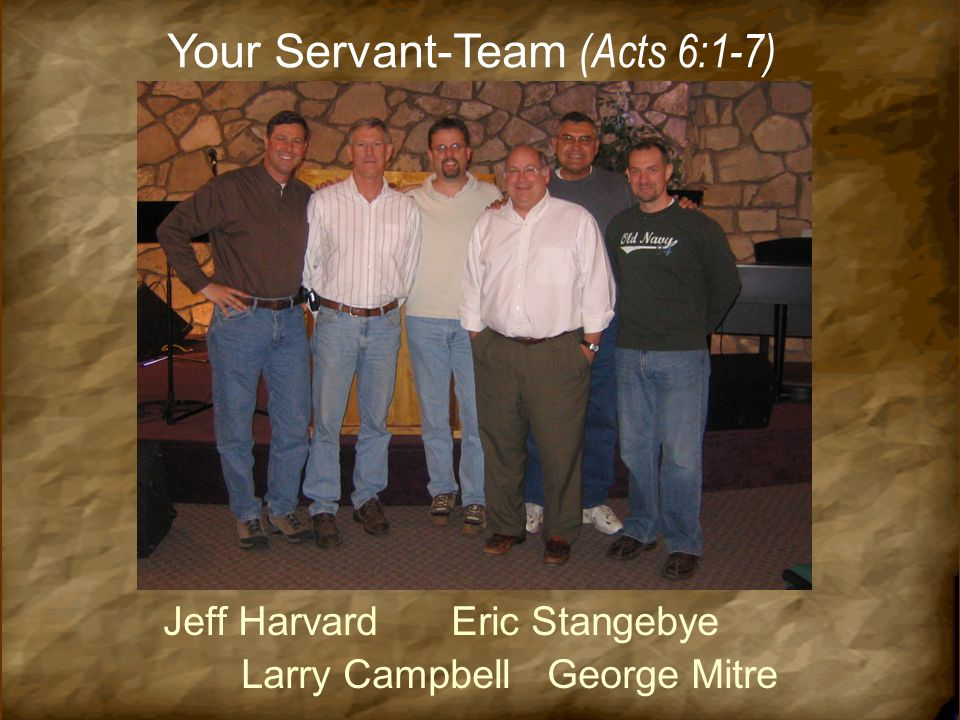 Your Servant-Team (Acts 6:1-7)