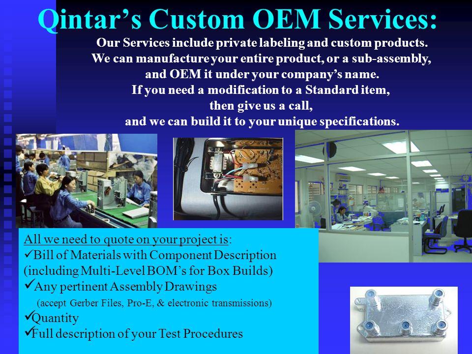 Qintar's Custom OEM Services: