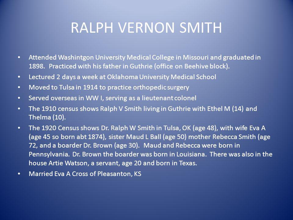 RALPH VERNON SMITH