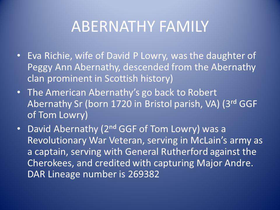 ABERNATHY FAMILY