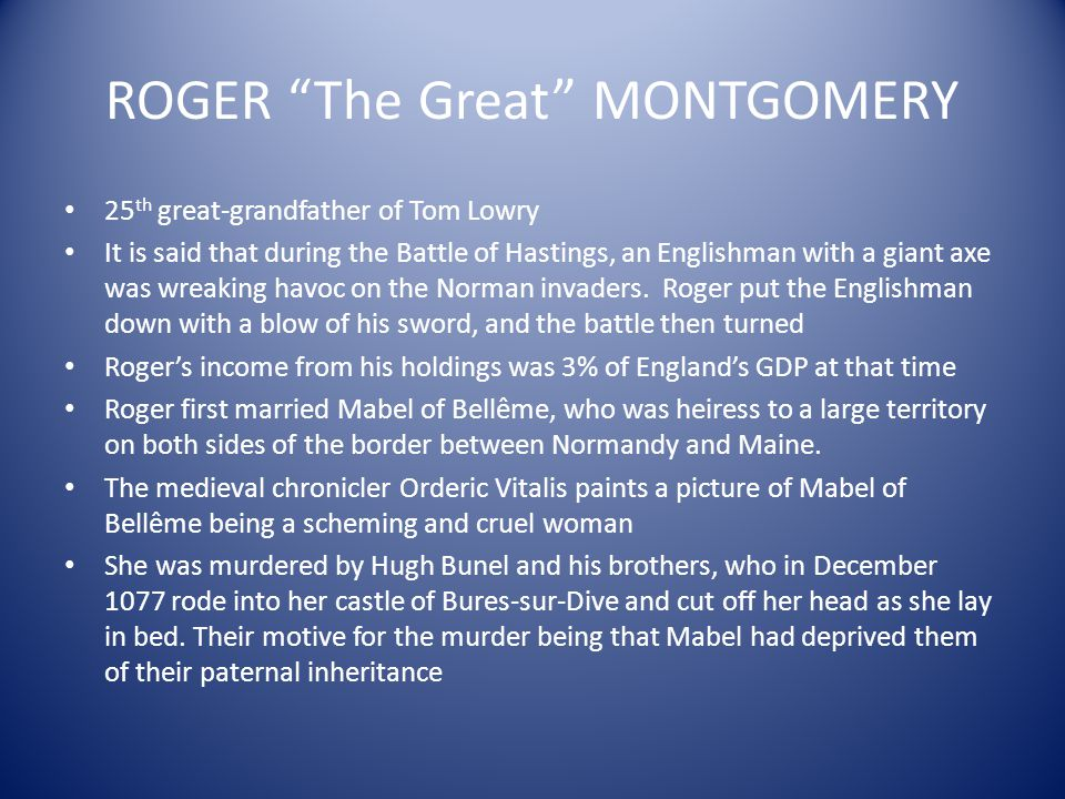 ROGER The Great MONTGOMERY