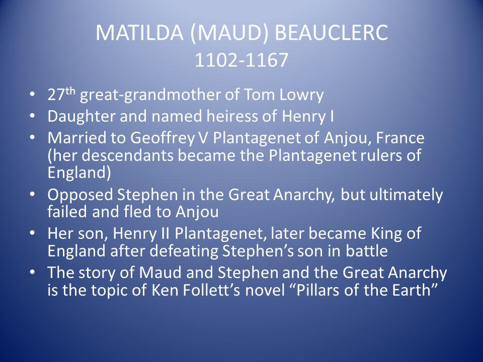 MATILDA (MAUD) BEAUCLERC 1102-1167