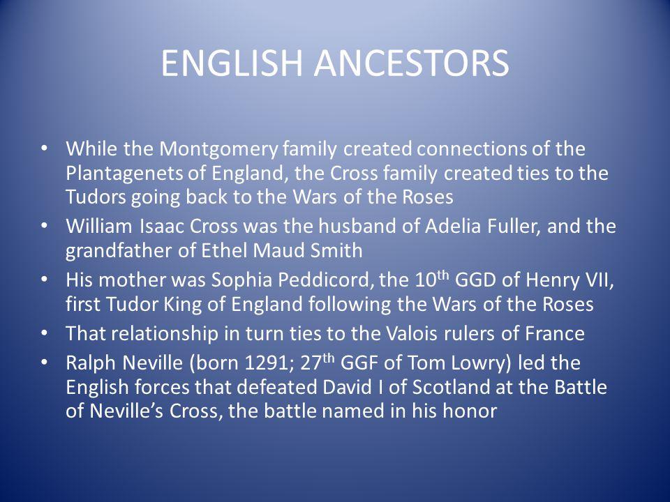 ENGLISH ANCESTORS