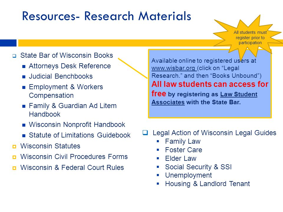 Resources- Research Materials