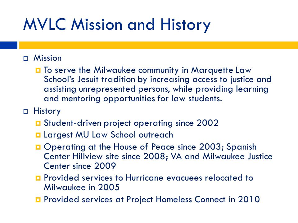 MVLC Mission and History