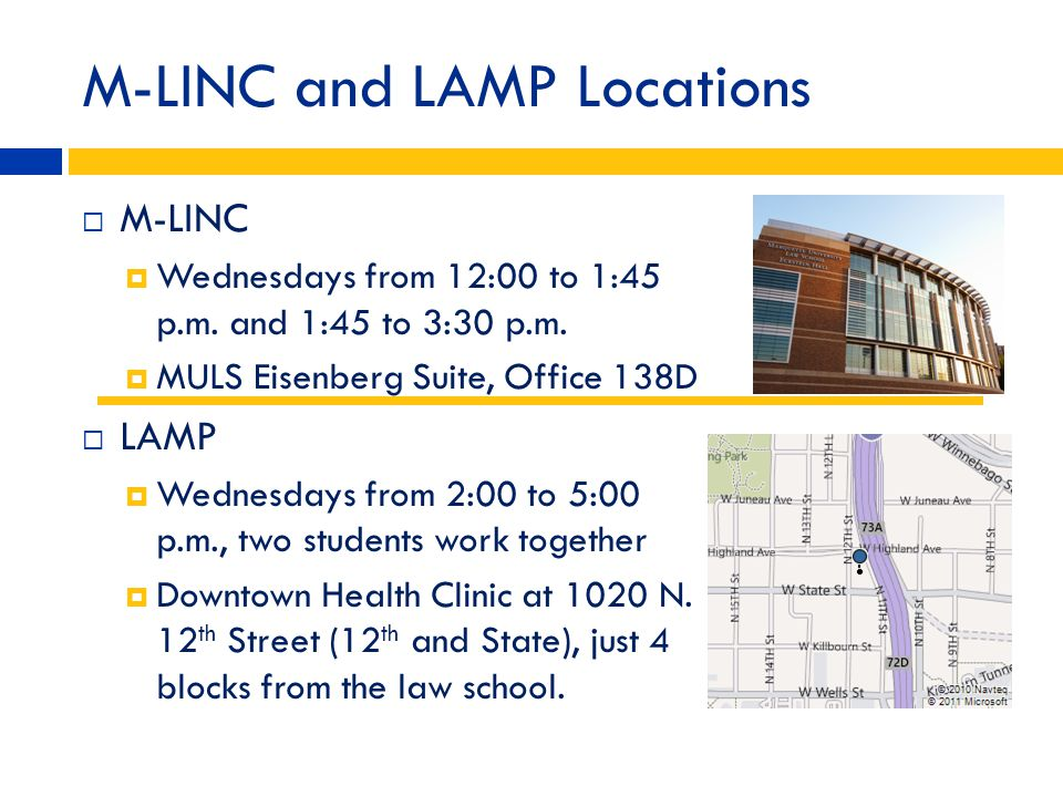 M-LINC and LAMP Locations
