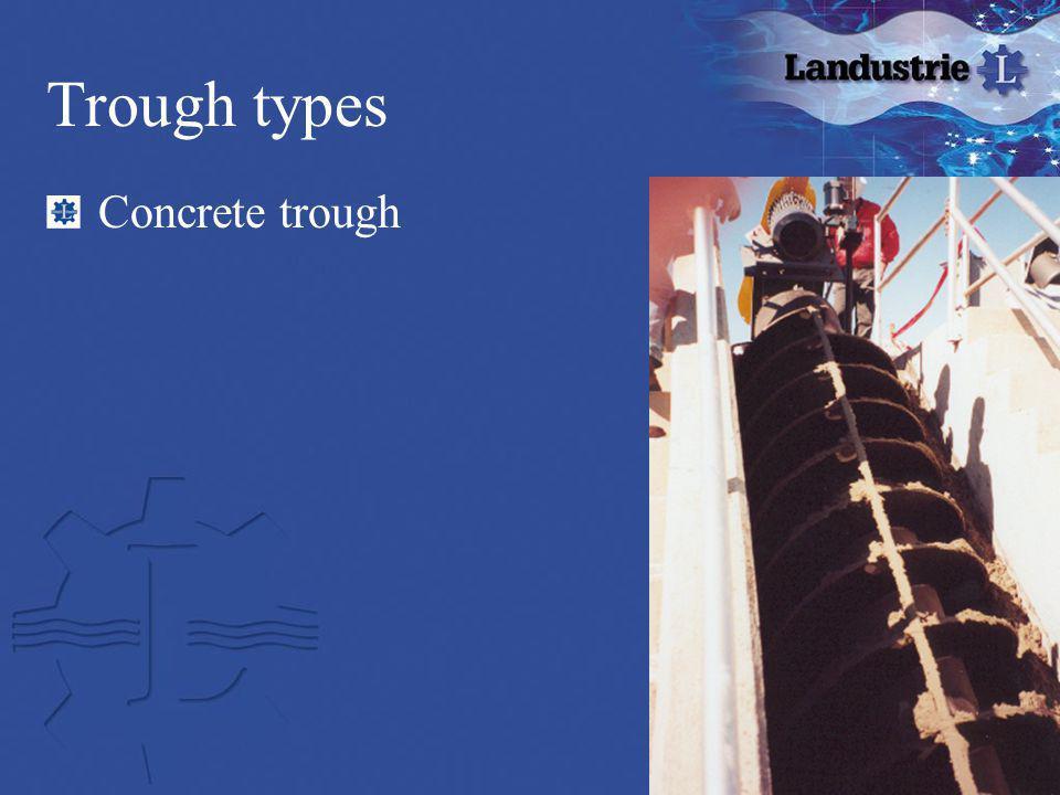 Trough types Concrete trough