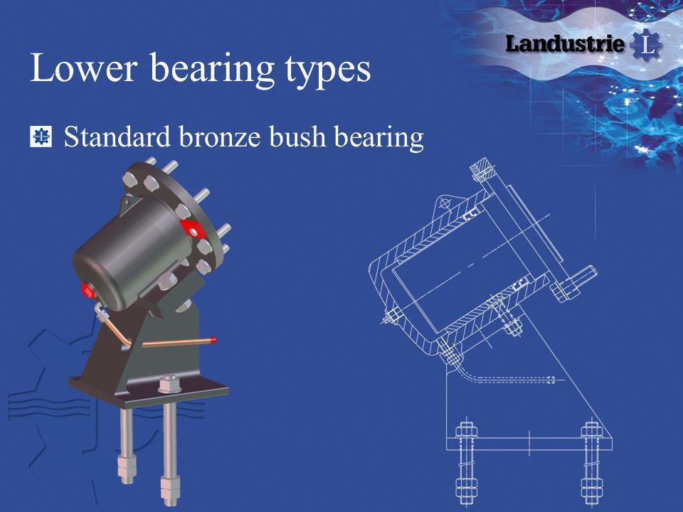 Lower bearing types Standard bronze bush bearing