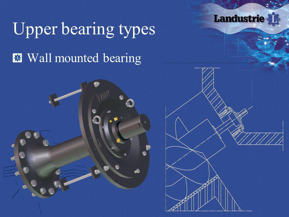 Upper bearing types Wall mounted bearing