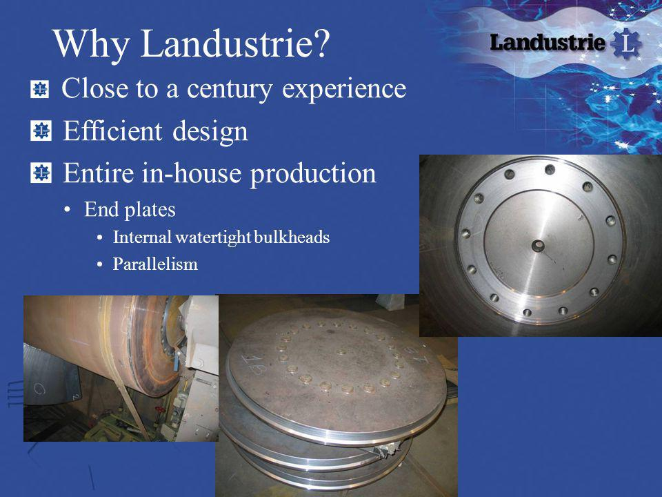Why Landustrie Efficient design Entire in-house production
