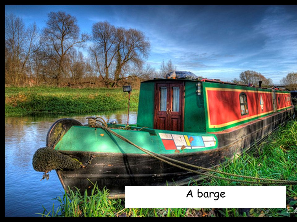 A barge