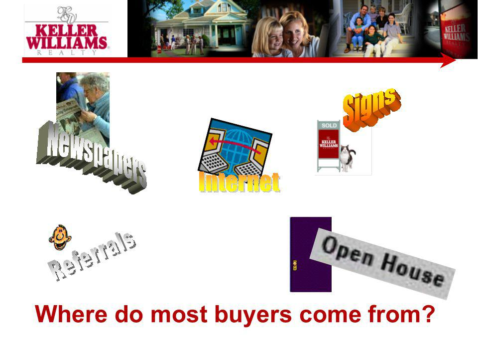 Where do most buyers come from