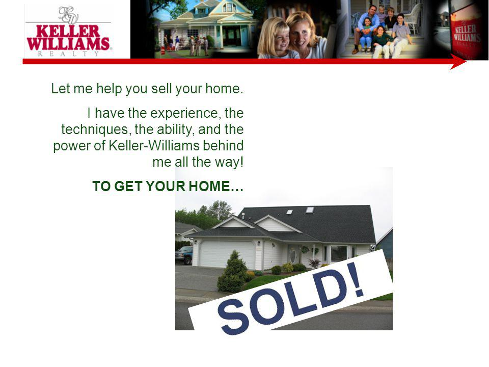 Let me help you sell your home.